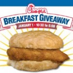 Chick Fil A – get a coupon for Free Breakfast on New Year's!