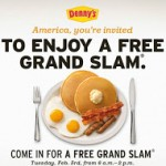 Freebies: Breakfast at Denny's on 2/3