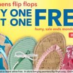 Get BOGO free flip flops at Payless PLUS save 20%!