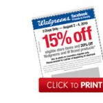 Save an additional 15-20% at Walgreens with the Friends & Family coupon!