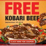 Get FREE Kobari beef at Panda Express today!