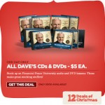Dave Ramsey's 12 Days of Christmas Deal: CDs and DVDs for just $5!