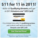 Get an $11 Amazon gift card for writing 11 Viewpoints reviews!