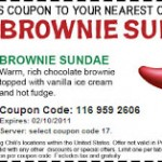 Free brownie sundae from Chili's!