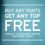 Gap: Buy pants, get a top free!