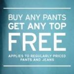 Gap: Buy pants, get a top free!