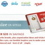 Get your free Organize in Style P&G coupon book!