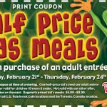 Half Price Kids Meals at Rainforest Cafe!