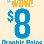 Old Navy:  Mens and boys graphic polos for $8 each!