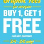 Old Navy Graphic Tees BOGO free plus get $5/25!