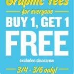 Old Navy Graphic Tees BOGO free plus get $5/25!