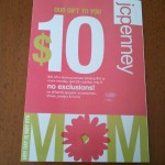 JC Penney – $10/$10 and $10/25 coupon!