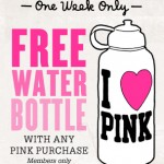 Free Water Bottle for Victoria's Secret Pink Nation members!