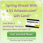 Viewpoints:  Write 5 qualifying reviews, get a $5 Amazon gift card!