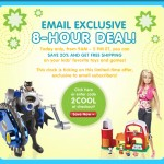 Mattel:  Save 20% plus get free shipping!