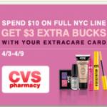 CVS Unadvertised Deal:  Get FREE NYC nail polish!