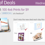 Walgreens photo deals:  100 4X6 prints for $9!