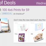 Walgreens photo deals:  100 4X6 prints for $9!