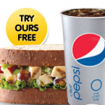 Arby's free chicken & pecan sandwich!