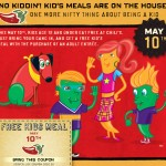 Chili's:  Kids eat free tonight!
