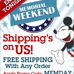 Disney Store:  free shipping + 10% cash back!
