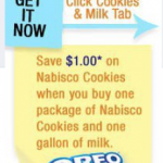 Nabisco Cookies & Milk printable coupon!
