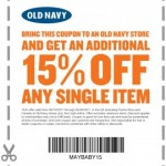 Old Navy: Get 15% off a single item!