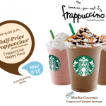 Starbucks:  Frappuccino Happy Hour starts today!