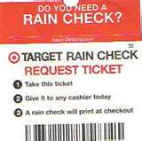 · A couple weeks ago, Target had a few $10 PSX games on sale for $4. They were out and I got a rain check. On the rain check it says:
