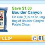 Printable coupon alert:  $1/1 Boulder chips is BACK!