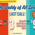 Old Navy Dad's Day Deals:  $3 tees,  $9 button-down shirts