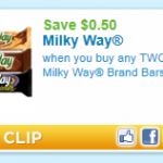 Calling all chocolate lovers:  new $.50/2 Milky Way printable!