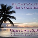 GIVEAWAY:  $200 Southwest Airlines gift card!