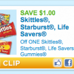 HOT printable:  $1/1 Skittles, Lifesavers Gummies, or Starburst!