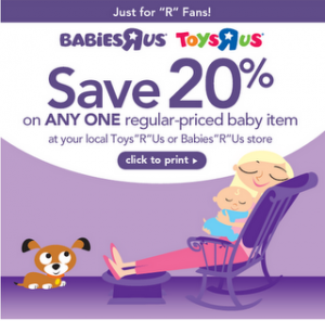 Babies r us coupon 20 off one item may 2018