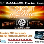DATE NIGHT:  Dinner & a movie for $15!