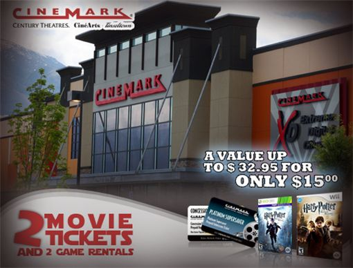 15 For 2 AMC Gold Or Cinemark Movie Tickets Game Rentals