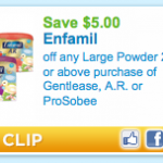 Hot new printable:  $5/1 Enfamil = cheap formula at Walgreens!
