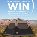 Freebie Friday:  Enter to win a Coleman Instant Tent (starts 12 am PT on 7/29)