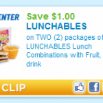 Target:  Lunchables w/ fruit $1.39-$1.69 after coupons!