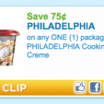 Printable coupon alert:  $.75/1 Philadelphia Cooking Creme + yummy recipe!