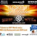 Date Night:  Dinner & a movie for 2 only $15!