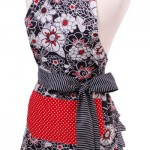 Flirty Aprons Flash Sale:  Save 50% off scarlet blossom apron!