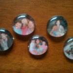 Grandparent's Day Gifts on a Budget:  Bubble Photo Magnets