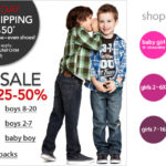 Macy's:  20% off all Kids' clothing + free shipping + 8% cash back!