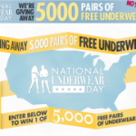 Celebrate National Underwear Day, get FREE Underwear!