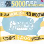 Celebrate National Underwear Day, get FREE Underwear!