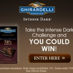 Ghiradelli Intense Dark Challenge Instant Win Game:  win chocolate and more!