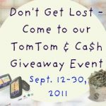 GIVEAWAY:  Tom Tom GPS and CASH!