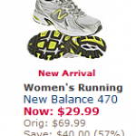 Men's and Woman's New Balance Shoes as low as $29.99 + 4% cash back!